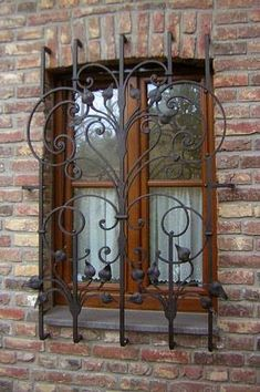 Top 55 Beautiful Grill Design Ideas For Windows - Engineering Discoveries Iron Window Grill, Window Grill Design, Door Design, House Design, Wrought Iron Decor, Wrought Iron Gates, Iron Windows, Iron Doors, Window Security Bars