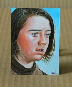Arya Stark x inch sketch card Arya Stark, Sketch, Artwork, Cards, Sketch Drawing, Work Of Art, Auguste Rodin Artwork, Sketches, Artworks
