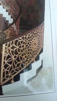 Laser cut staircase