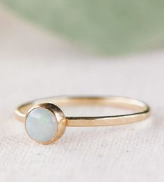 14k Gold Opal Ring by 36ten on Scoutmob