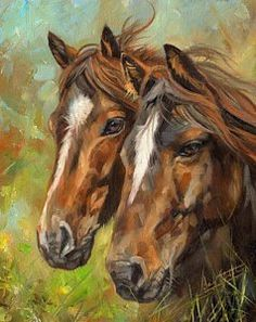 Painting - Horses by David Stribbling