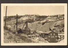 Vintage RPPC - View of the Cresson Mine & Bull Hill - Cripple Creek, Colorado