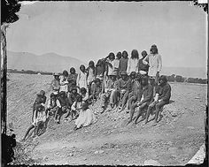 A group of Native Americans in the Mojave Desert region, circa 1871 Native American Tribes, Native American History, American Indian Art, First Nations, Nativity, Mojave Desert, Group, 23 August, Black Indians