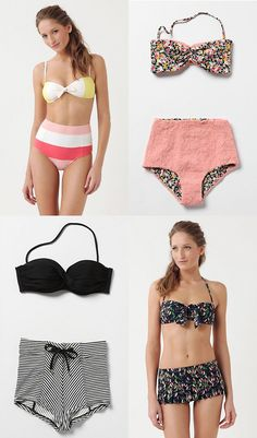 vintage-style swimsuits