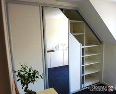 aide pour créer placard sous pente latérale? | Çatı katı ... - Porte Coulissante Pour Placard Sous Comble