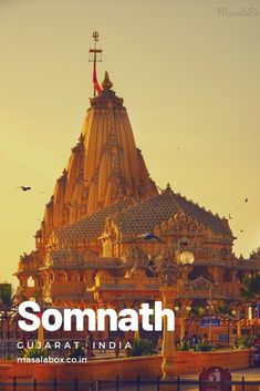 Somnath Temple called the Eternal Shrine is the first Jyotirling site that devotees throng to every day. Here is the history of Somnath Temple and travel guide on what to expect. Amarnath Temple, Temple Logo, Temple India, Hindu Temple, Buddhist Temple, Aztec Temple, Egyptian Temple, Indian Temple Architecture, Historical Architecture