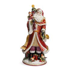 Add an opulent, elegant touch to your holiday décor with the Fitz and Floyd Regal Holiday Santa Figurine. Decorated in rich colors with gilded and hand-painted details this beautifully crafted figurine captures the magic of Christmas. Santa Figurines, Collectible Figurines, Floyd Bed, Father Xmas, The Fitz, Glass Ornaments, Bedding Shop, Hand Painted, Holiday