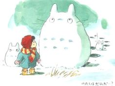.I want to make a snow Totoro.