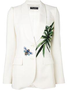 Dolce & Gabbana блейзер с нашивкой