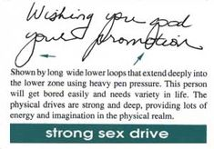 This Y Loop will make her blush… : Handwriting University: Learn Handwriting Analysis and Graphology.