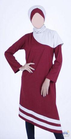 Blus Muslimah Merah Asimetris - Vannara 187 Dengan bahan dasar warna merah polos , blus ini dibuat dengan model asimetris, atau panjang sebelah. Selain itu untuk mempercantik desain blus ini dilengkapi denganstrip putih pada bagian bottom blus.
