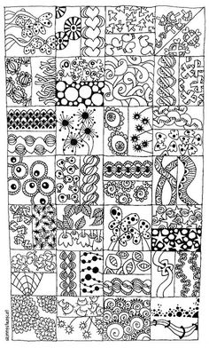 More doodle ideas - Zentangle  - doodle - doodling - black and white zentangle patterns. zentangle inspired - #zentangle #doodling #zentangle patterns