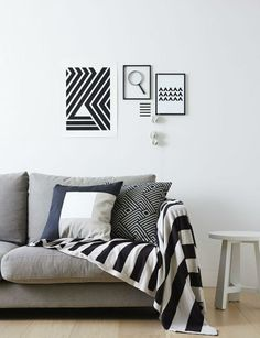 Simple and stylish, love this monochrome interior inspiration shot!