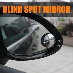 Blind Spot Mirror (2pcs)Rimless HD Glass Wide Angle 360° Convex Mirror Rear View #HJL