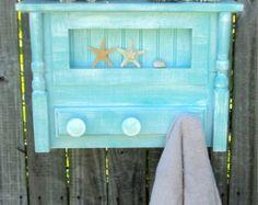 Farmhouse Display Shelf Towel Bar Coat Rack Up by TheSavvyShopper1