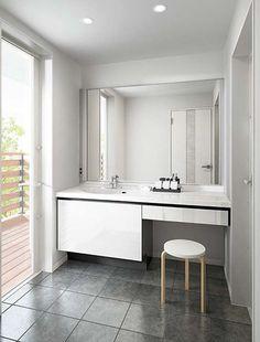 AL025 Laundry Powder, Bedroom Closet Design, Washroom, Powder Room, Double Vanity, New Homes, Interior, House, Woodworking Crafts