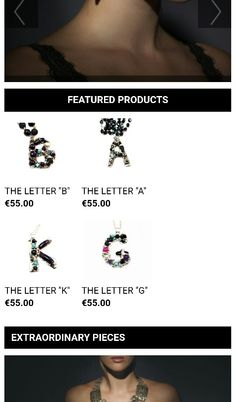 Jewelry Letters
