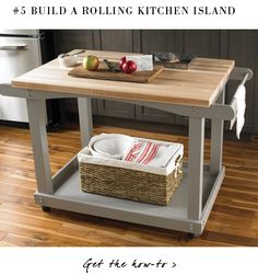 DIY: rolling kitchen island     BUILDING TWO OF THESE THIS SUMMER!!!