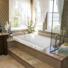 Designer Emma 66 x 42 Soaking Bathtub Big Bathtub, Bathtub Decor, Diy Bathroom Decor, Bathroom Interior Design, Bathroom Furniture, Small Bathroom, Bathroom Tubs, Square Bathtub, Deep Bathtub