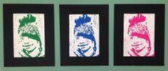 Self Portraits-Lino prints