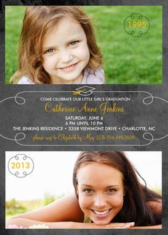 cute graduation party invitation