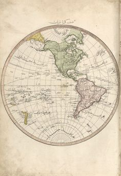 Ottoman Map of the Western Hemisphere (1803)