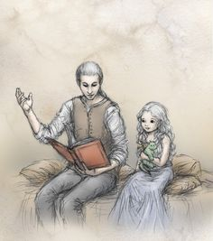 """Daenerys and Viserys Targaryen by Ejbeachy. """"My mother died giving me birth, and my father and my brother Rhaegar even before that. I would never have known so much as their names if Viserys had not been there to tell me. He was the only one left. The only one. He is all I have."""""""