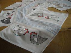 Velikonoční prostírání - fixem na textil