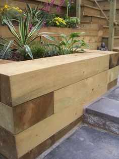 Softwood sleepers are an attractive and versatile landscaping product.  Perfect for raise beds and retaining walls. Also available in European Oak.  Ring 01803 813803 for prices.  www.southern-timber.co.uk