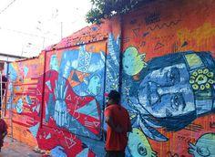 Bicentenario más 1, alternativo. En la Escalinata de Antequera, Asunción, el artista Oz Montanía realizó un mural en homenaje al genio Mangoré. Foto: Julia Peroni/Paraguay.com