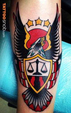 Colorful classic #tattoos #tattoosnob #bodyart #tattoo