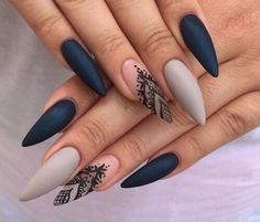 Imagem de nails, black, and nail art