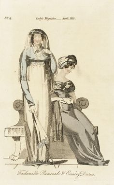 These look like half-mourning outfits. 1813 Lady's magazine