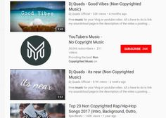 non-copyrighted music youtube