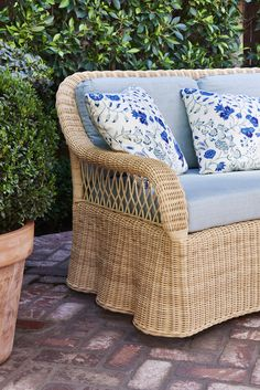 Soane Britain's Rattan Lily Sofa Rattan, Wicker, Furniture Making, Britain, Upholstery, Lily, Sofa, Chair, Interior