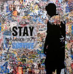 "Saatchi Art Artist Tehos Frederic CAMILLERI; Painting, ""Tehos - Stay awake to survive 02"" #art"