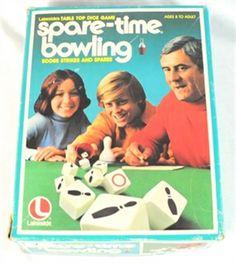 vintage baord games | ... Games | Vintage Board Games | Vintage Spare Time Bowling Board Game