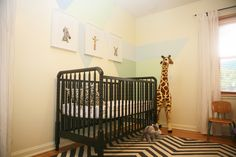 Project Nursery - Boy Animal Theme Nursery Crib View