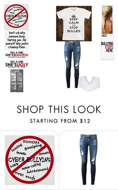 """""""STOP BULLYING!!!!!!"""" by karhoades-2 ❤ liked on Polyvore featuring AG Adriano Goldschmied and Vans"""