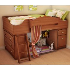 Imagine Kids Loft Bed 3576 by South Shore  For when Addison ages out of her crib.