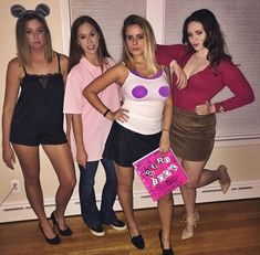 35 Cutest, Craziest & Coolest Group Halloween Costumes for your Girl Squad - Hike n Dip Biker Girl Halloween Costume, Powerpuff Girls Halloween Costume, Lifeguard Halloween Costume, Mean Girls Costume, Best Group Halloween Costumes, Halloween Outfits, Crazy Costumes, Halloween Inspo, Toddler Halloween