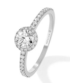 Messika engagement ring www. Luxury Jewelry, Modern Jewelry, Gold Diamond Rings, Diamond Jewelry, Bling Bling, Wedding Jewelry, Wedding Rings, Best Engagement Rings, Solitaire Engagement