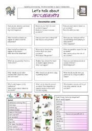 English worksheet: Let´s talk about ACCIDENTS