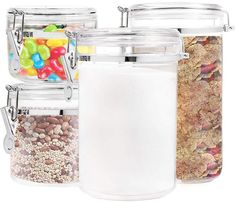 Food Storage containers canister set – Set of 4 Air Tight Canisters with lids for dry flour Cereal coffee rice acrylic plastic clear glass airtight cannister for kitchen – Online Cooking Store Healthy Hair Growth, Natural Hair Growth, Natural Hair Styles, Best Hair Loss Treatment, Hair Growth Treatment, Hair Treatments, Low Porosity Hair Products, Hair Porosity, Food Storage Containers