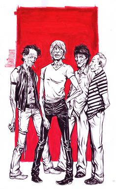 The Rolling Stones - Santolouco Commissioned work for Budha Khe Rhi Brasil Comic Book Artists, Comic Artist, Comic Books, The Rolling Stones, Stone Wallpaper, Music Artwork, Rockn Roll, Movie Poster Art, Keith Richards