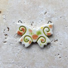 Ceramic butterfly pendant handmade butterfly by THEAElements