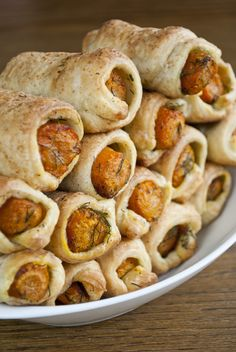 Carrots in a blanket #vegan #pastry What a great idea! I want to cook them differently though and not fry the carrots.