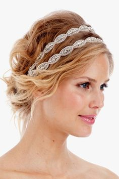 Lovely crystal headband for your wedding day hair! {@Etsy}