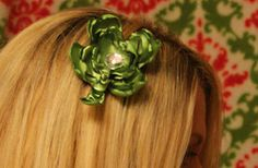 Chic Shamrock Hair Clip #tutorial