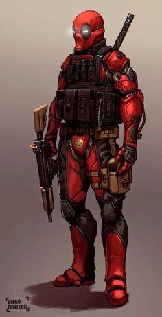 Deadpool 2030 by FonteArt on DeviantArt Comic Book Characters, Marvel Characters, Comic Character, Comic Books Art, Comic Art, Deadpool Character, Hq Marvel, Marvel Dc Comics, Marvel Heroes